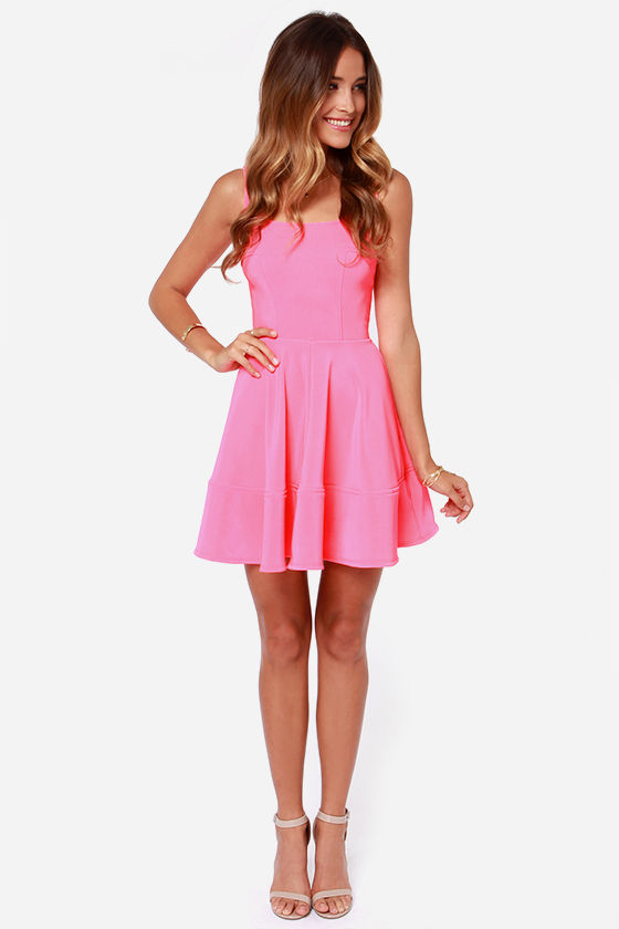 Home Before Daylight Neon Pink Dress at Lulus.com!