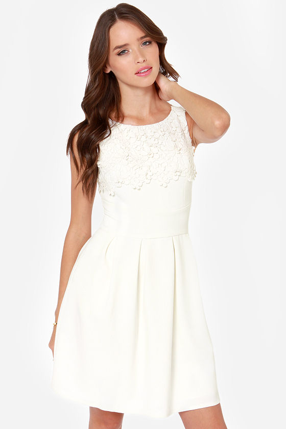 Darling Julie Ivory Lace Dress at Lulus.com!