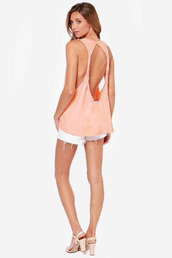 Obey Rider Peach Muscle Tee at Lulus.com!