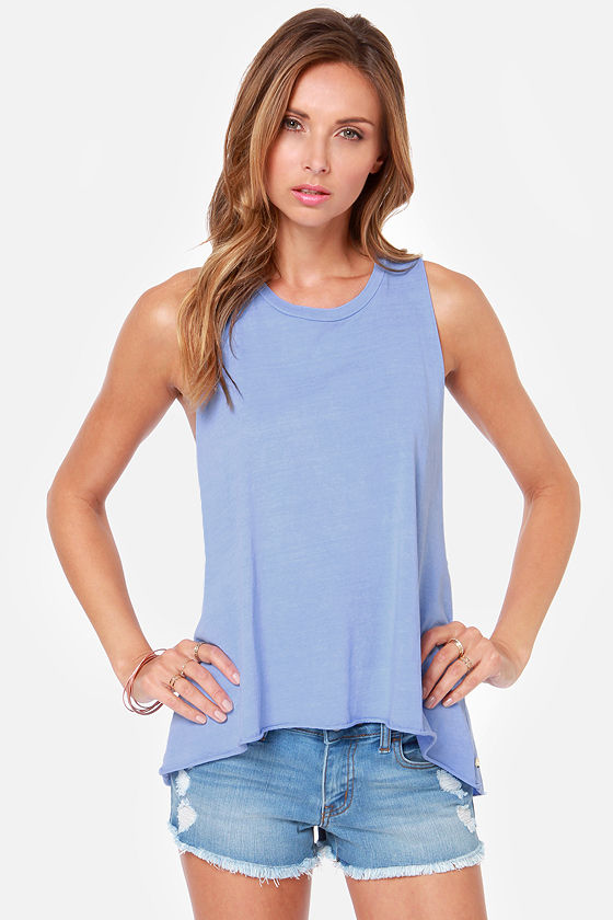 Obey Rider Periwinkle Blue Muscle Tee at Lulus.com!