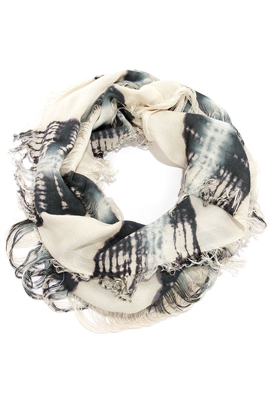 Alternate Dimension Cream and Slate Scarf at Lulus.com!