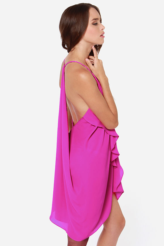 Tier for the Party Magenta Dress at Lulus.com!
