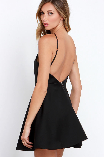 7817cf3b8f Keepsake Crossroads Dress - Black Dress - LBD - Skater Dress -  149.00