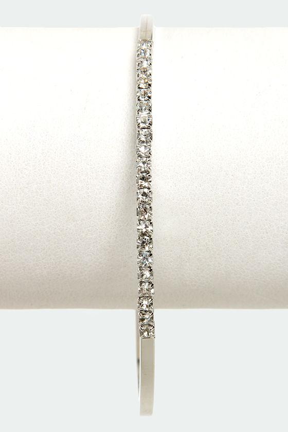 Teacher's Petite Silver Rhinestone Bracelet at Lulus.com!