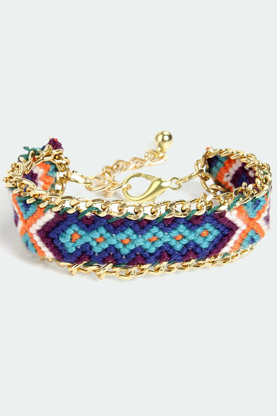 Friends Forever Gold and Blue Woven Friendship Bracelet at Lulus.com!