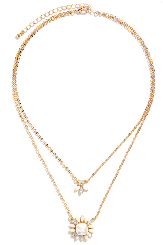 Cute Couple Gold Layered Necklace at Lulus.com!