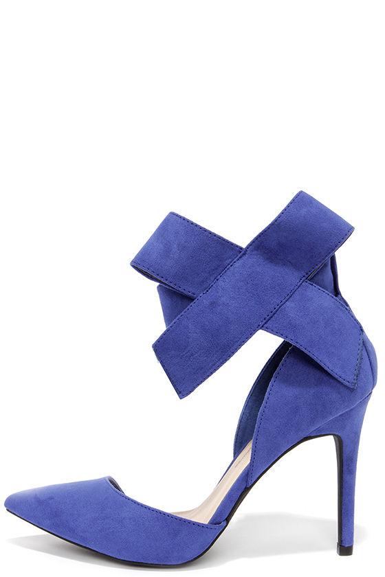 d0100f181cf Cute Blue Pumps - Bow Heels - Bow Pumps - Pointed Pumps -  28.00