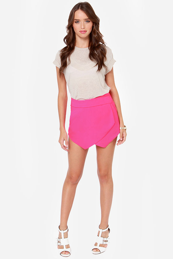 Let It Hide Neon Pink Shorts at Lulus.com!