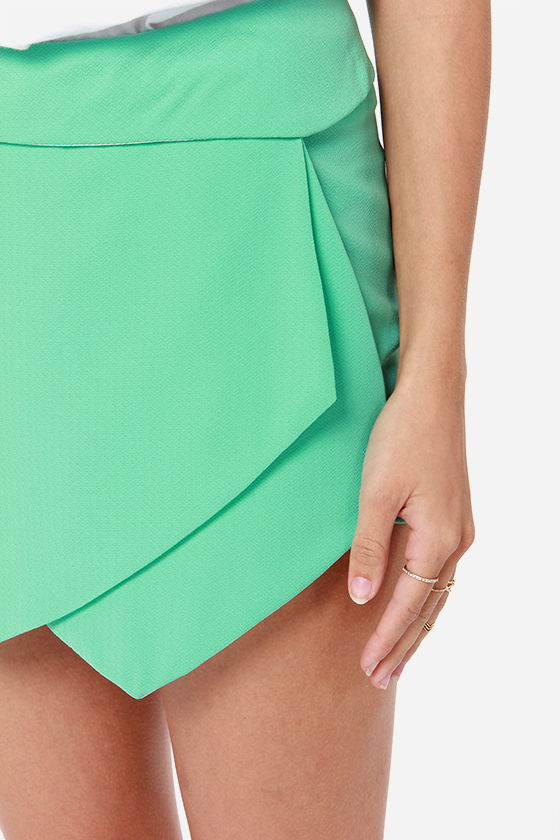 Let It Hide Mint Green Shorts at Lulus.com!