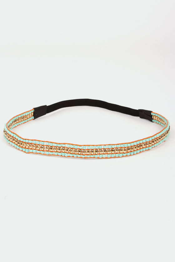 Bead Goes On Turquoise Headband at Lulus.com!
