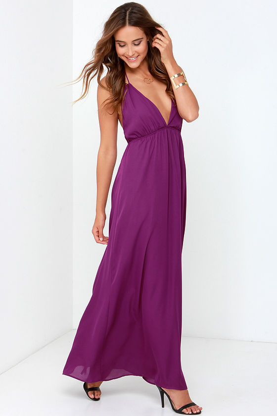 4271b7c7aff Purple Dress - Maxi Dress - Backless Dress -  54.00