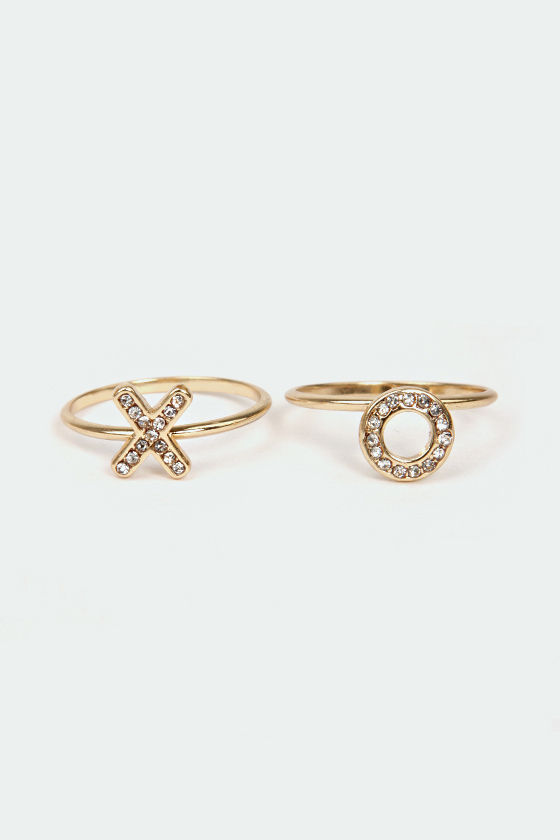 Let Love Grow Gold Ring Set at Lulus.com!