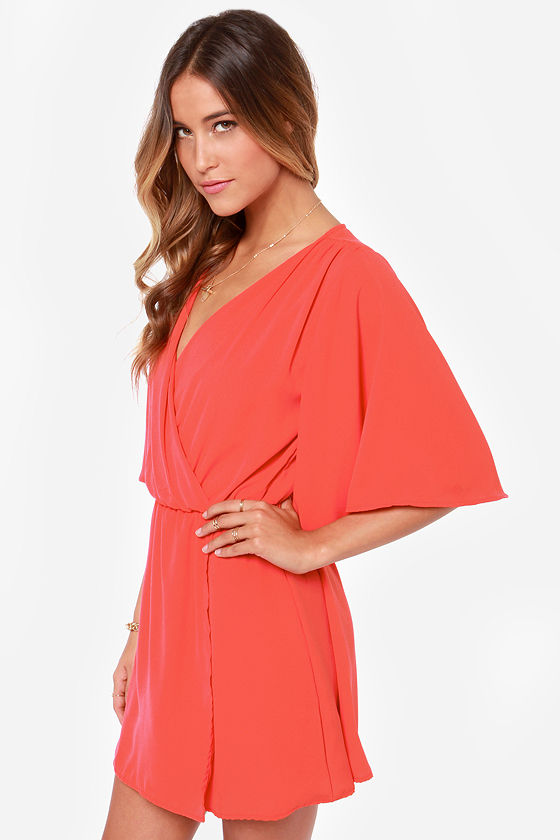 LULUS Exclusive The Way You Move Coral Red Dress at Lulus.com!