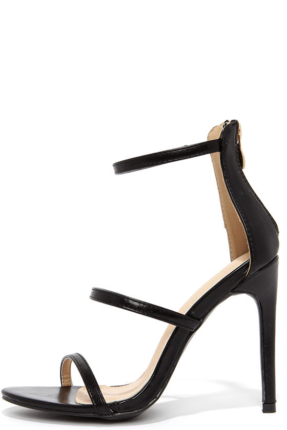 Sexy Black Heels - Dress Sandals - High Heel Sandals - $32.00