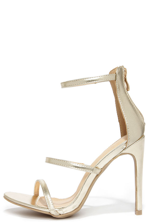 07240839654e Sexy Gold Heels - Dress Sandals - High Heel Sandals -  32.00