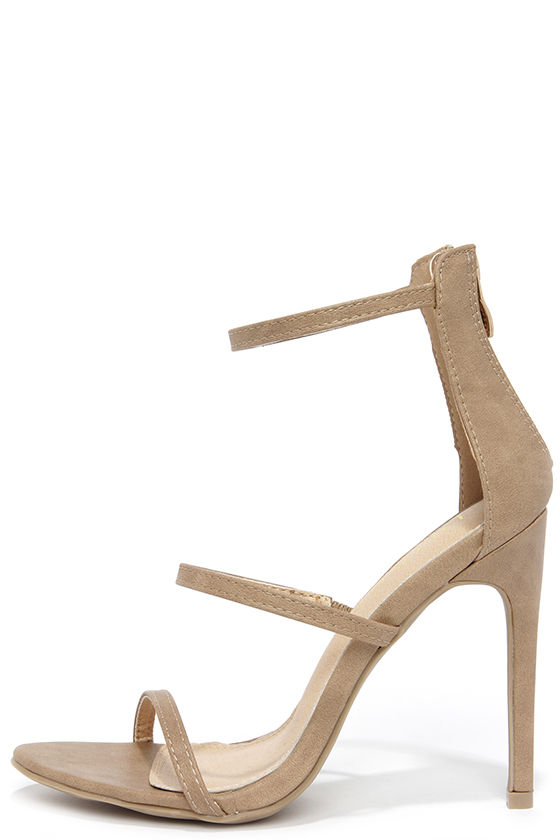 52ed2c7eb066 Sexy Nude Heels - Dress Sandals - Nude High Heel Sandals