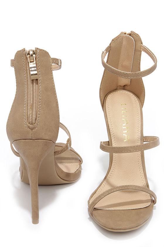 Three Love Nude Dress Sandals 3