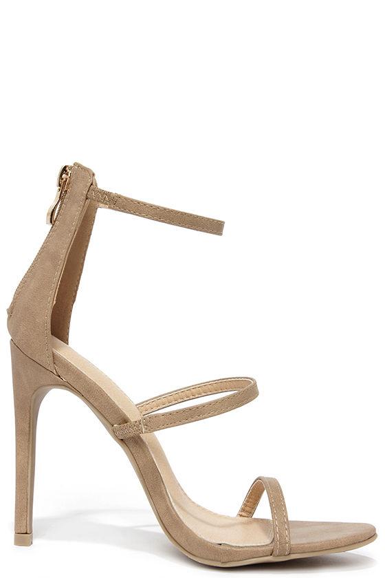 Three Love Nude Dress Sandals 4