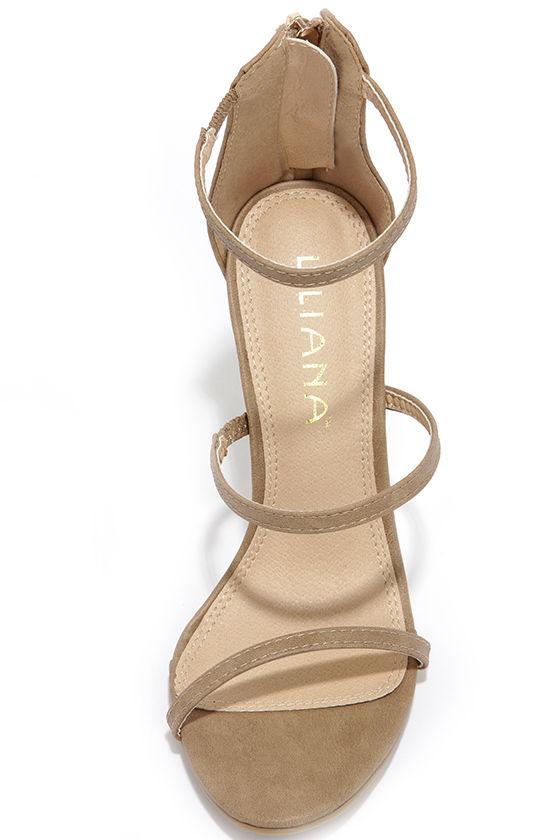 Three Love Nude Dress Sandals 5