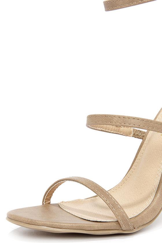 Three Love Nude Dress Sandals 6