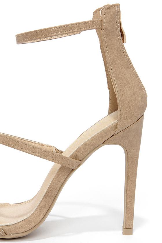 Three Love Nude Dress Sandals 7