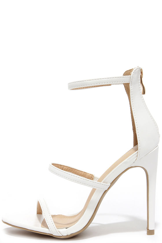 Sexy White Heels - Dress Sandals - High Heel Sandals - $32.00