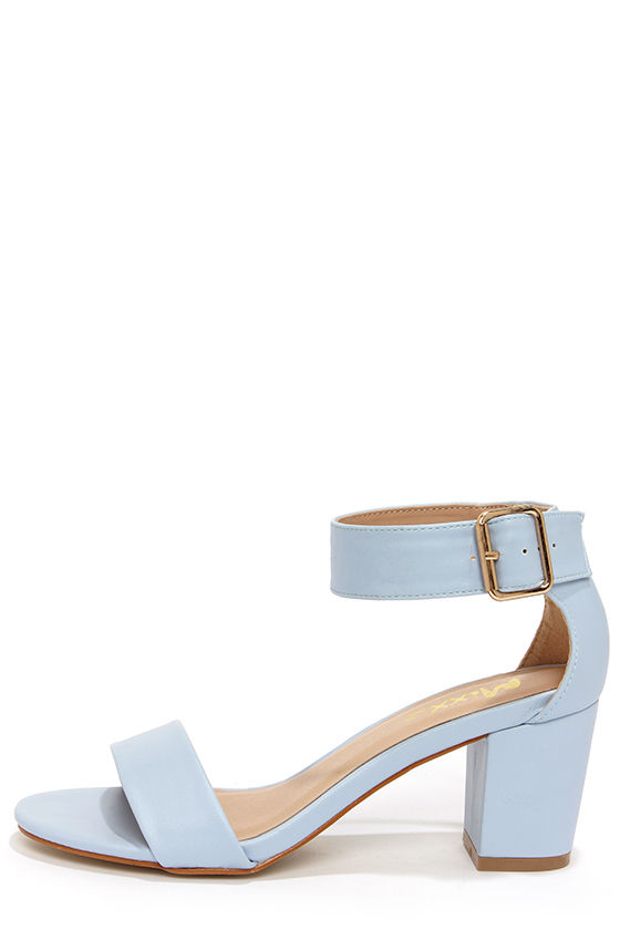 e59846fad5 Cute Blue Sandals - Blue Heels - Ankle Strap Sandals - $41.00
