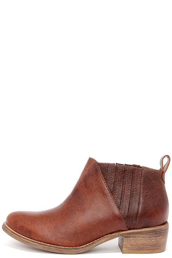 Cute Brown Boots - Leather Boots - Ankle Boots - $157.00