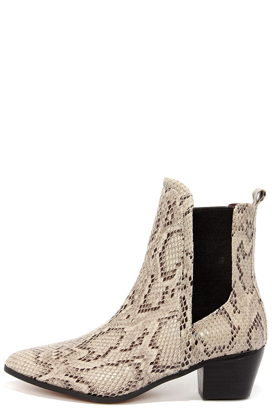Cute Snakeskin Boots Chelsea Boots Ankle Boots 119 00
