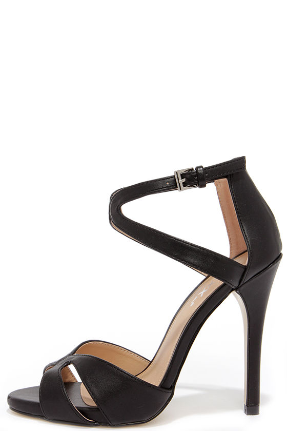 Cute Black Heels - Dress Sandals - High Heel Sandals - $41.00