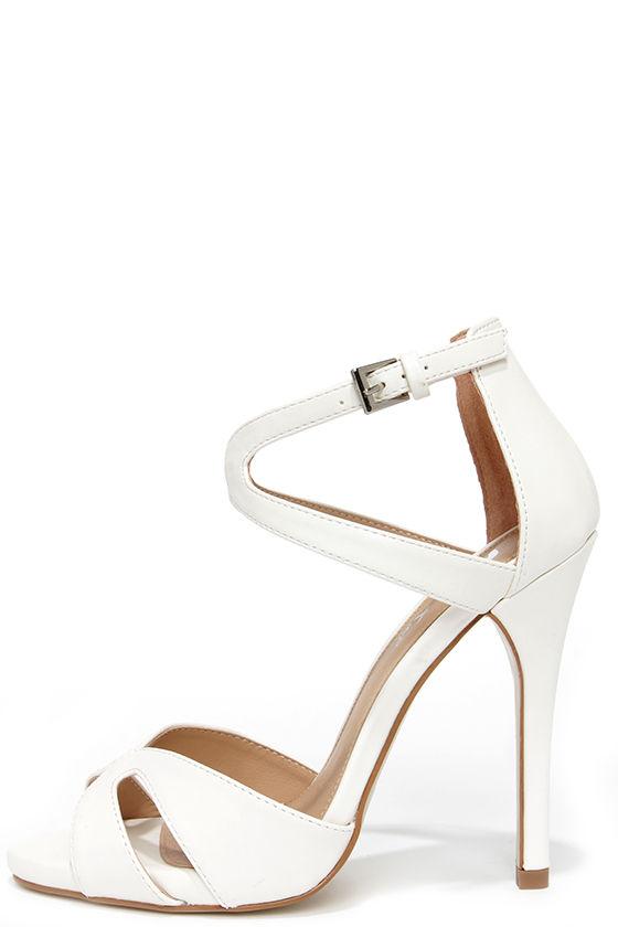 Cute White Heels - Dress Sandals - High