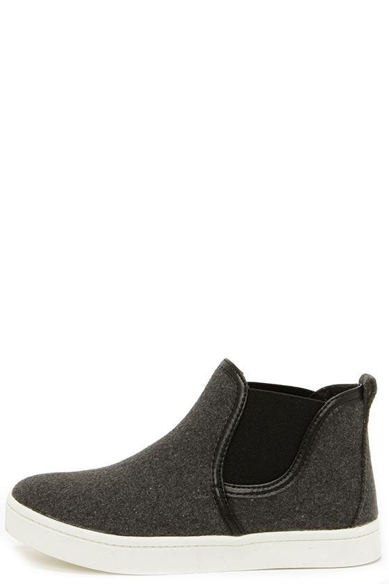 Cute Grey Sneakers - High-Top Sneakers