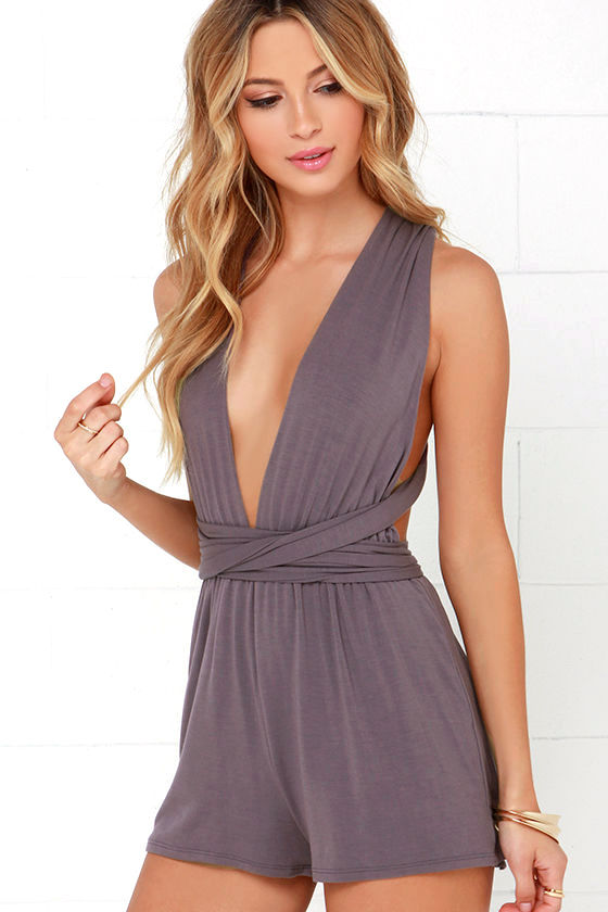 Any Way You Want Me Dusty Purple Romper 1
