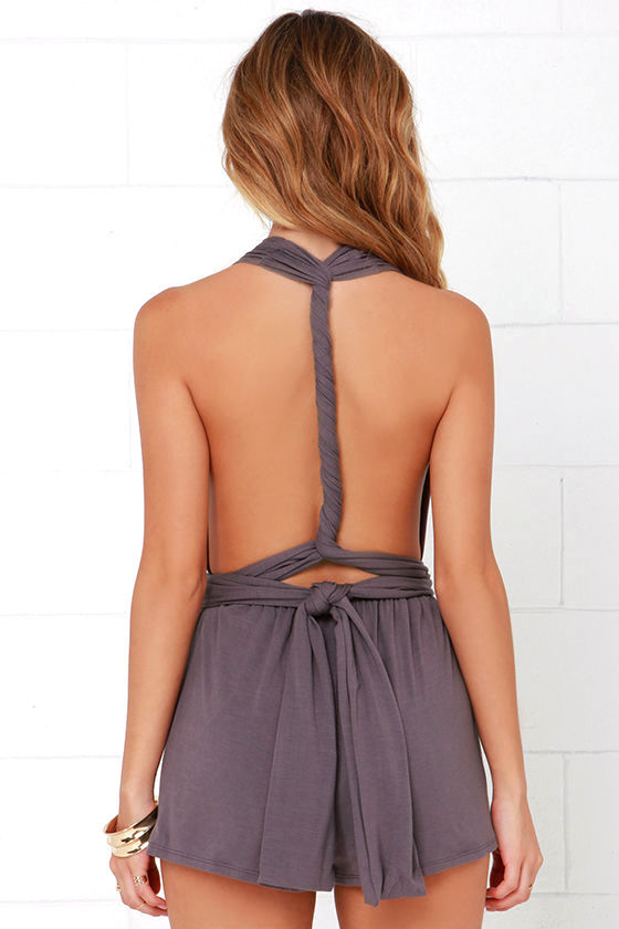 Any Way You Want Me Dusty Purple Romper 6