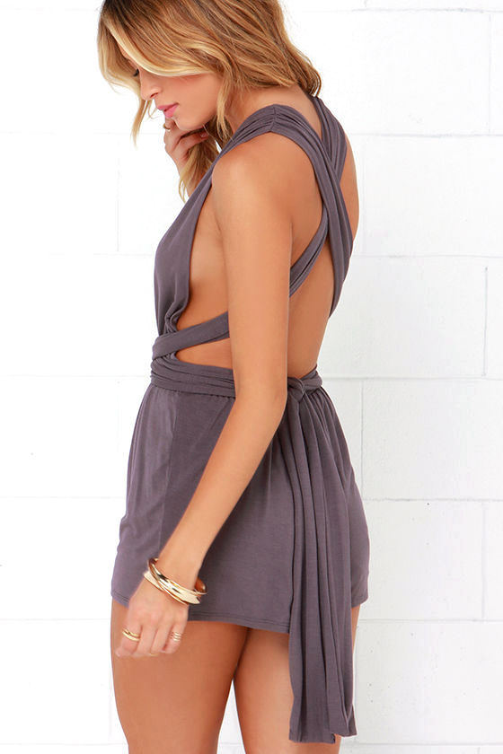 Any Way You Want Me Dusty Purple Romper 4