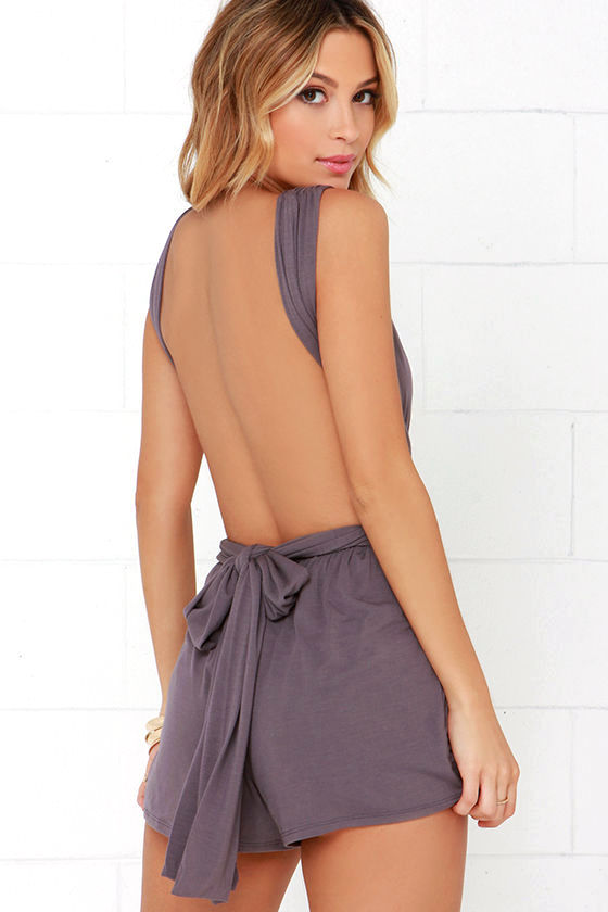 Any Way You Want Me Dusty Purple Romper 3