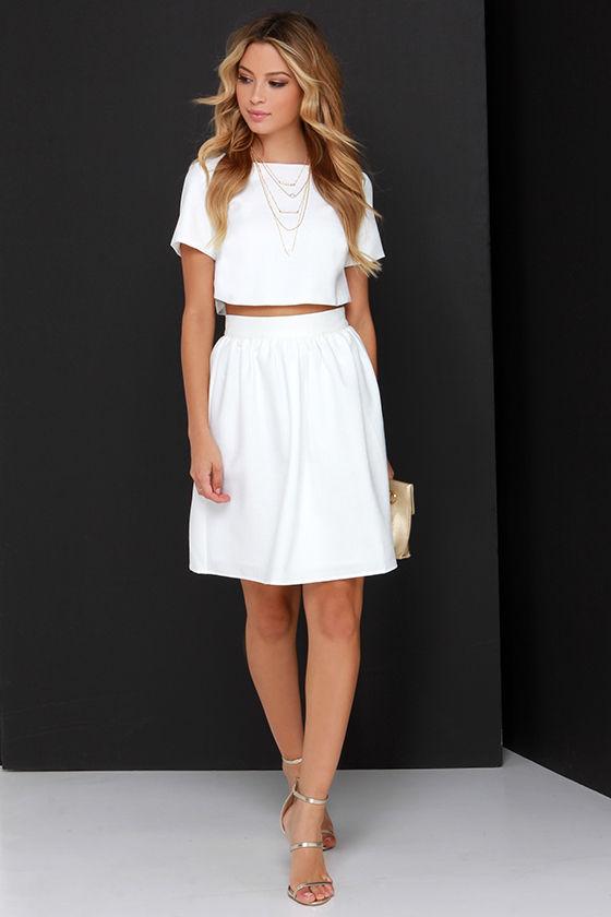ffdb88746f42 Darling Two-Piece Dress - Ivory Dress - Midi Dress -  76.00
