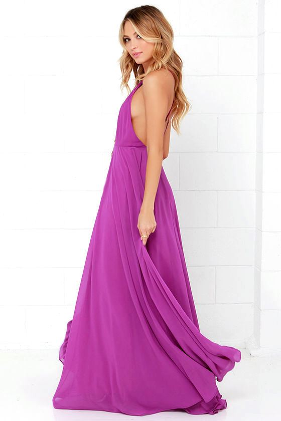 Mythical Kind of Love Magenta Maxi Dress 4