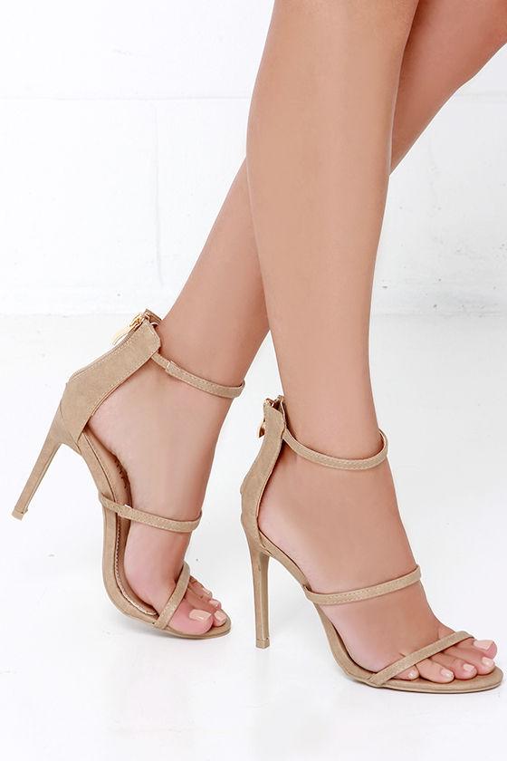 Three Love Nude Dress Sandals 2