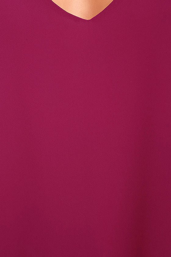 LULUS Exclusive Shifting Dears Magenta Long Sleeve Dress 6