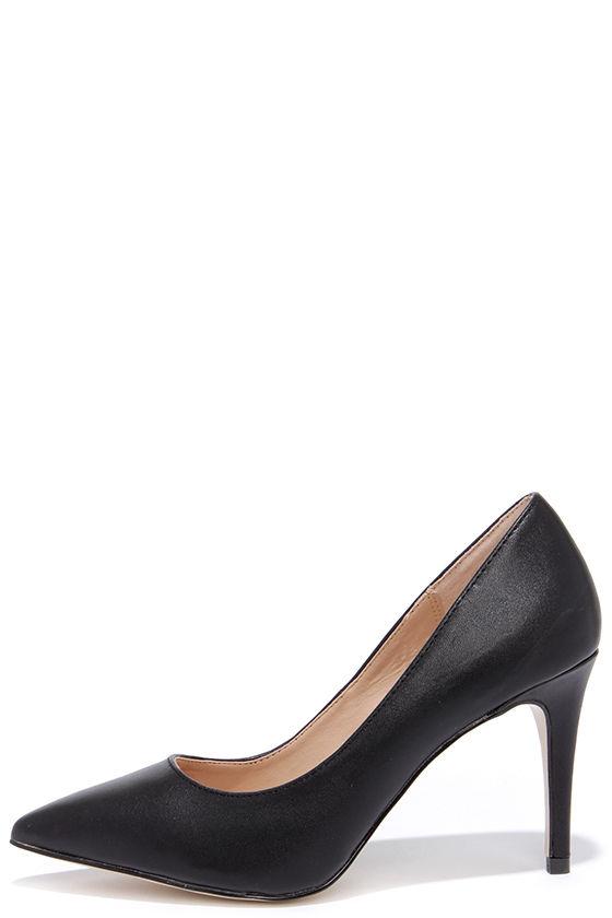 ec74a5b721f Cute Black Pumps - Pointed Pumps - Black Heels -  32.00