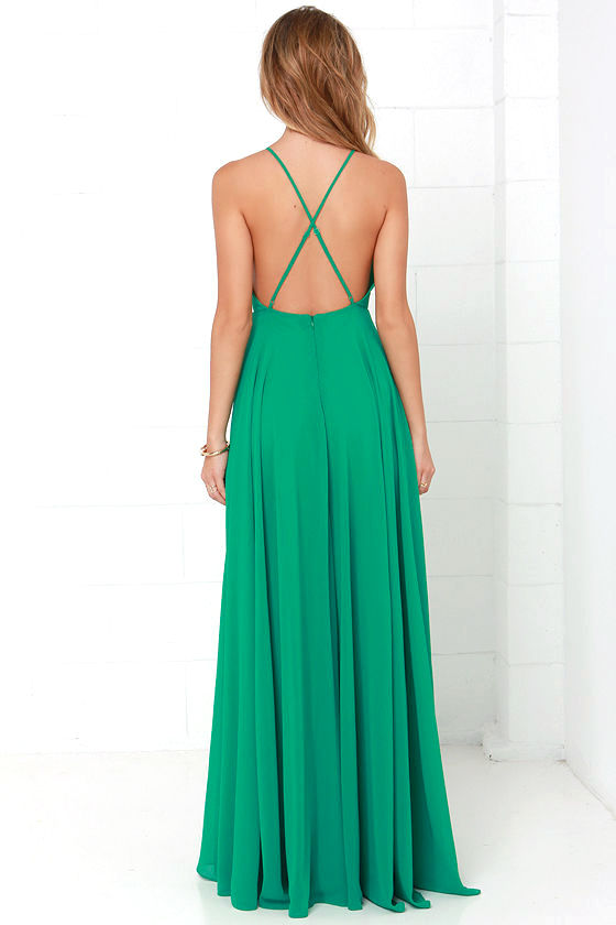 Mythical Kind of Love Green Maxi Dress 4