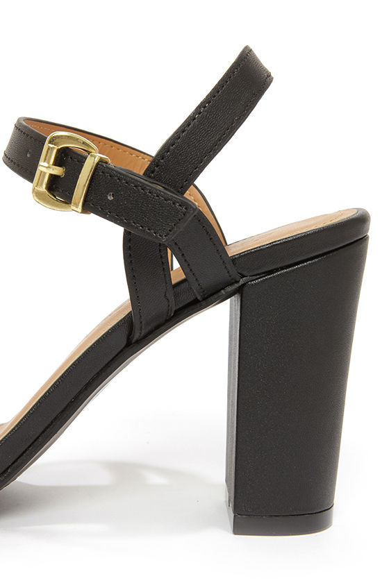 City Classified Belini Natural and Black Ankle Strap Sandals at Lulus.com!
