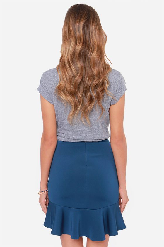 LULUS Exclusive Play the Trumpet Navy Blue Skirt at Lulus.com!