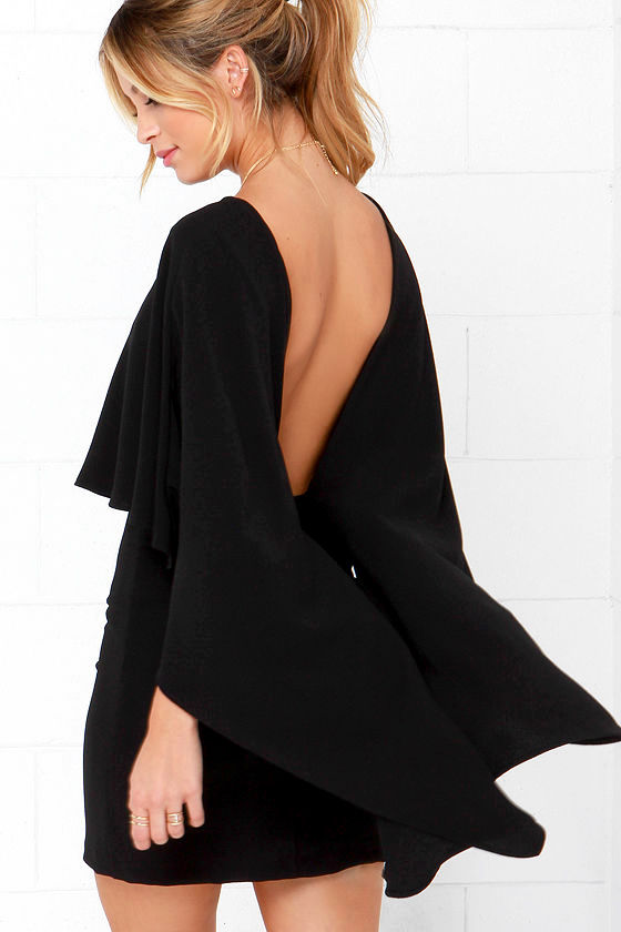 Chic Black Dress Backless Dress Lbd 54 00
