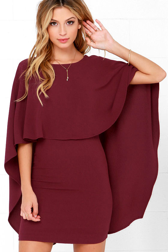 Best is Yet to Come Burgundy Backless Dress 45