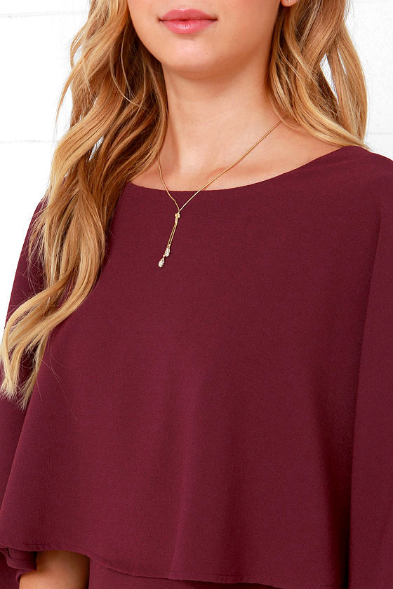 Best is Yet to Come Burgundy Backless Dress 7