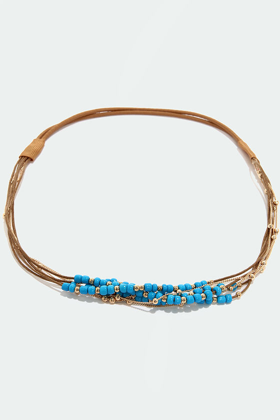 The Sweetest Fling Beaded Blue Headband at Lulus.com!