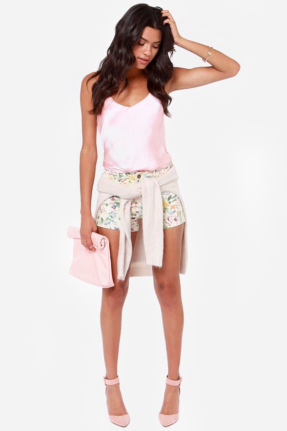 Billabong Memory Floral Print Jean Shorts at Lulus.com!