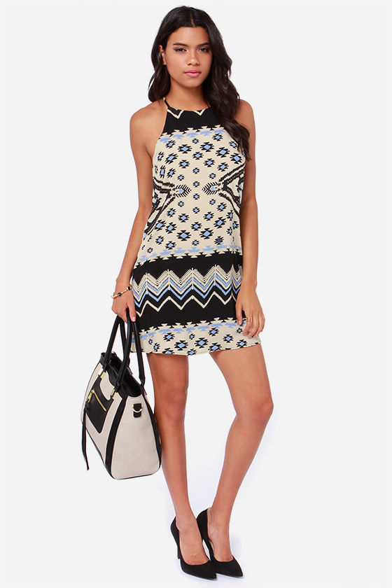 On to Yuma Cream Print Dress at Lulus.com!